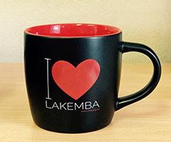 Image of our red and black  I love lakemba mug