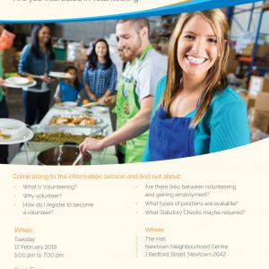 Copy of the flyer showing a group of young people working in a kitchen
