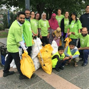 Group of Local Lakemba residents picking up litter