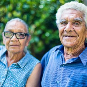 Happy senior Aboriginal couple