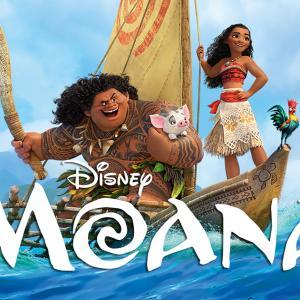 Image of Moana and Maui sailing