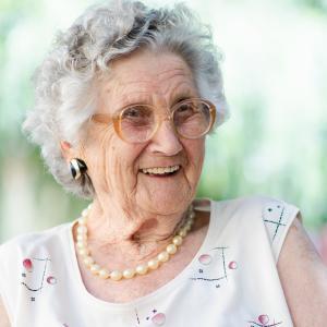 Happy Elderly women