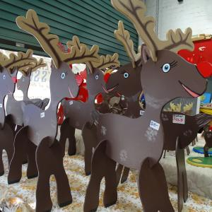 Wooden Reindeers on sale at the Toy Sale last year